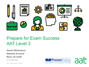 Prepare for exam success - AAT Level 3 webinar