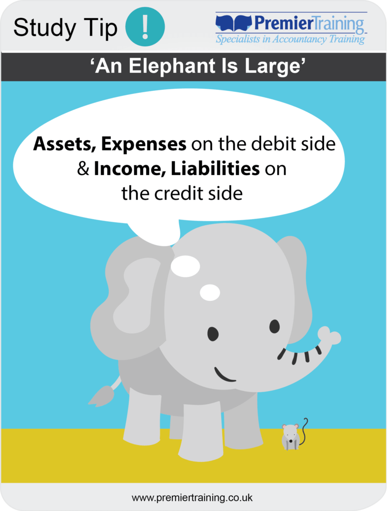 Accounting, An Elephant is large, bookkeeping