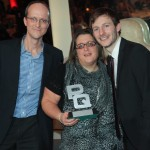 Donna Collecting her award