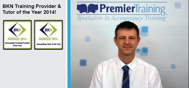 BKN Training Provider & Tutor of the Year 2014!