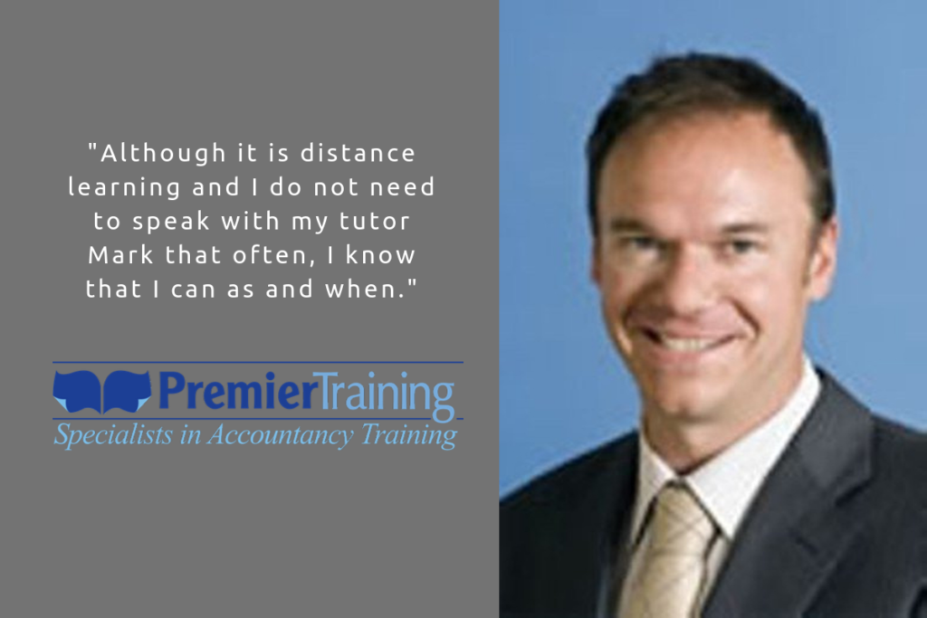 Premier Training AAT student Anthony Littlejohns