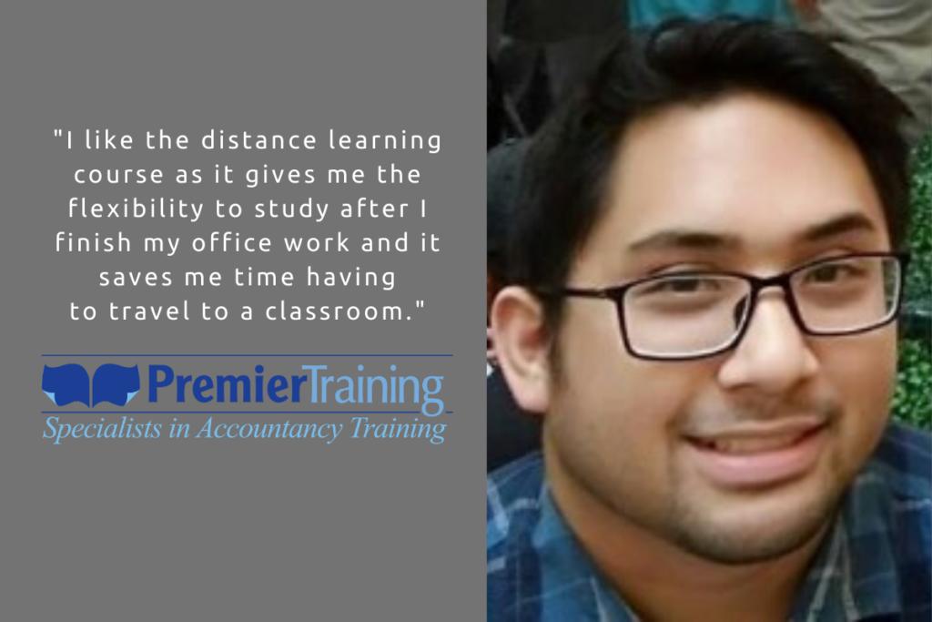 Premier Training AAT student Joshua Subang